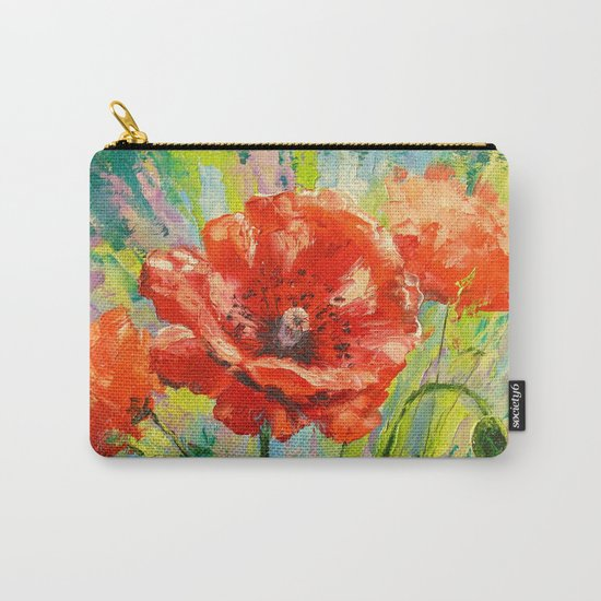 Blooming poppy Carry-All Pouch
