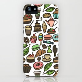 Coffee and pastry. iPhone Case