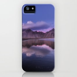 Beautiful Purple Iceland Mountains iPhone Case
