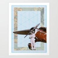 aviation Art Prints featuring Aviation by Allegra Jones