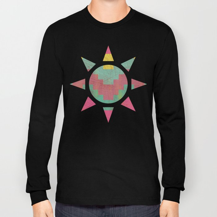 Aztec Vintage Pattern 01 Long Sleeve T-shirt