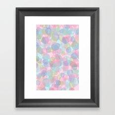Pebbles Lavender Framed Art Print