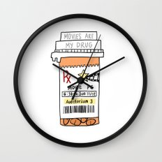 Movies are my drug Wall Clock