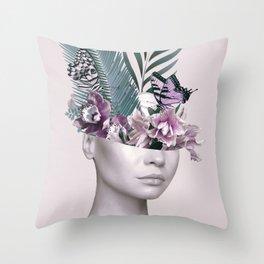 Tropical Girl 3 Throw Pillow