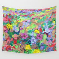 texas Wall Tapestries featuring Texas Wildflowers by Ann Marie Coolick
