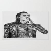 loki Area & Throw Rugs featuring Loki Laufeyson by Olivia Nicholls-Bates