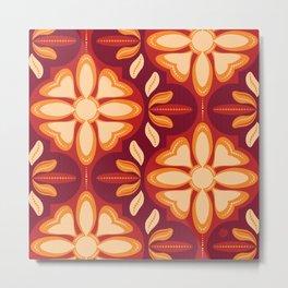 Swiss Chalet - Mulled Wine (pattern) Metal Print