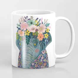 Elephant with flowers on head Coffee Mug