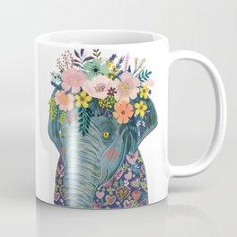Elephant with flowers on head Coffee Mug