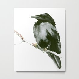 RAVEN on the tree Metal Print