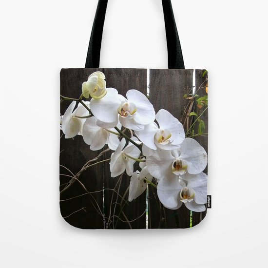 White Orchid Tote Bag