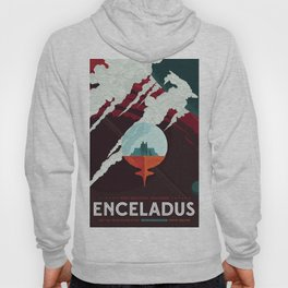 NASA Retro Space Travel Poster #3 - Enceladus Hoody