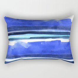 Wave Stripes Abstract Seascape Rectangular Pillow