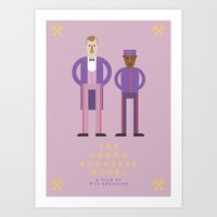 the grand budapest hotel Art Prints featuring The Grand Budapest Hotel by Joe Collins