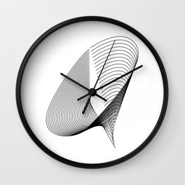 """""""Linear Collection"""" - Minimal Letter Q Print Wall Clock"""