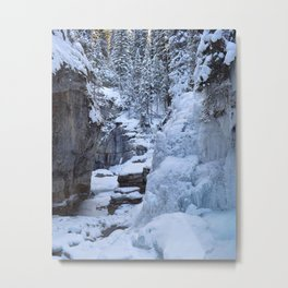 Ice Canyon in Canada Metal Print
