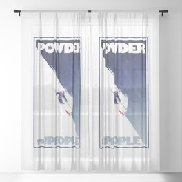 Powder to the People Sheer Curtain