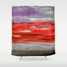 Serenity Abstract Landscape 3 Shower Curtain