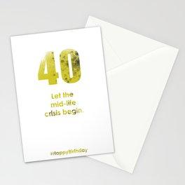 AgeIsJustANumber-40-GreyLimeB Stationery Cards
