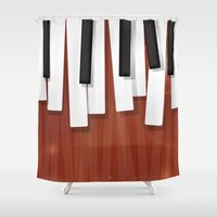 jazz Shower Curtains featuring Jazz by Rceeh