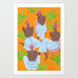 Fanm Djanm Turban Girls Art Print