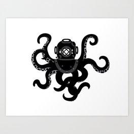 Octo Dive Art Print