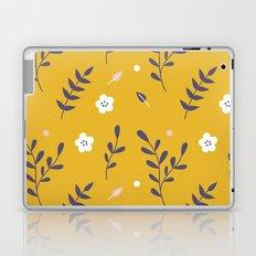 Mustard Floral Pattern Laptop & iPad Skin