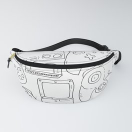 White Game Toys 1 Fanny Pack