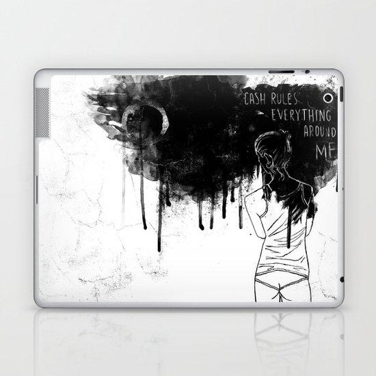 Cash Rules Laptop & iPad Skin