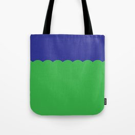 Scalloped - Kelly Green & Navy Tote Bag