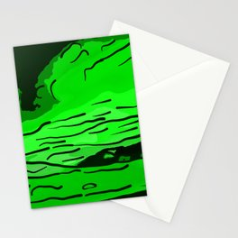 abstract style aurora borealis absde Stationery Cards