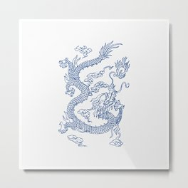 Chinese  Loong Metal Print