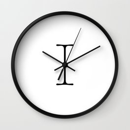 Letter I Typewriting Wall Clock