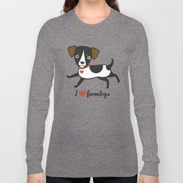 I love farmdogs Long Sleeve T-shirt