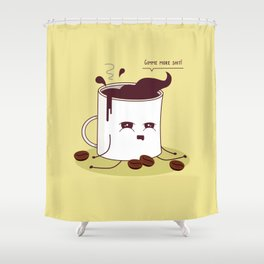 Coffee Mug Addicted To Coffee Shower Curtain