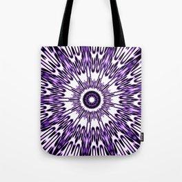 Purple White Black Explosion Tote Bag