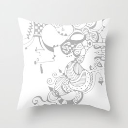 Doodle-Ish Two Throw Pillow
