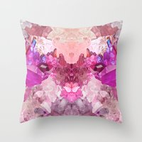 crystal Throw Pillows featuring Crystal by Dasha Grishina