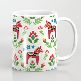 Swedish Dala Horses Red Coffee Mug