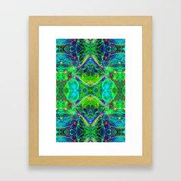 Techno Electric III (Ultraviolet) Framed Art Print