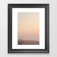 Early Morning Fisherman Framed Art Print