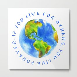 Live For Solidarity Metal Print