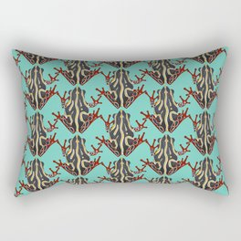 congo tree frog mint Rectangular Pillow