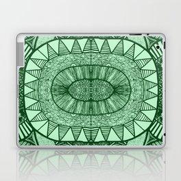 Grassy Green Tangled Mania Pattern Doodle Design Laptop & iPad Skin