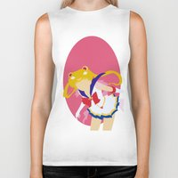 sailor moon Biker Tanks featuring Sailor Moon by Polvo