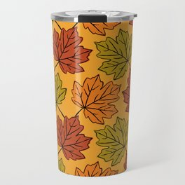Maple Leaves Pattern Travel Mug