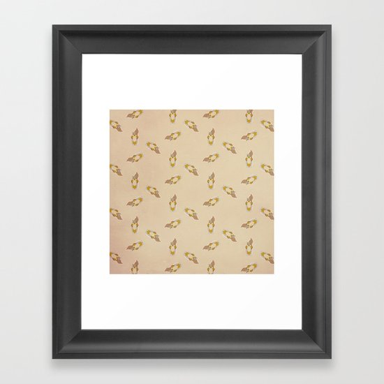 Squirrel Pattern Framed Art Print