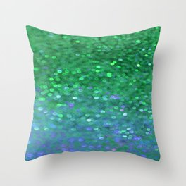 Sea Nymph Sparkle Throw Pillow
