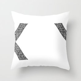 When X saw Y. Throw Pillow