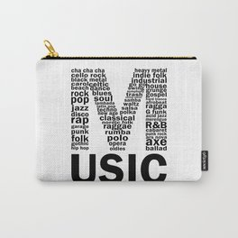 Music Genres Carry-All Pouch